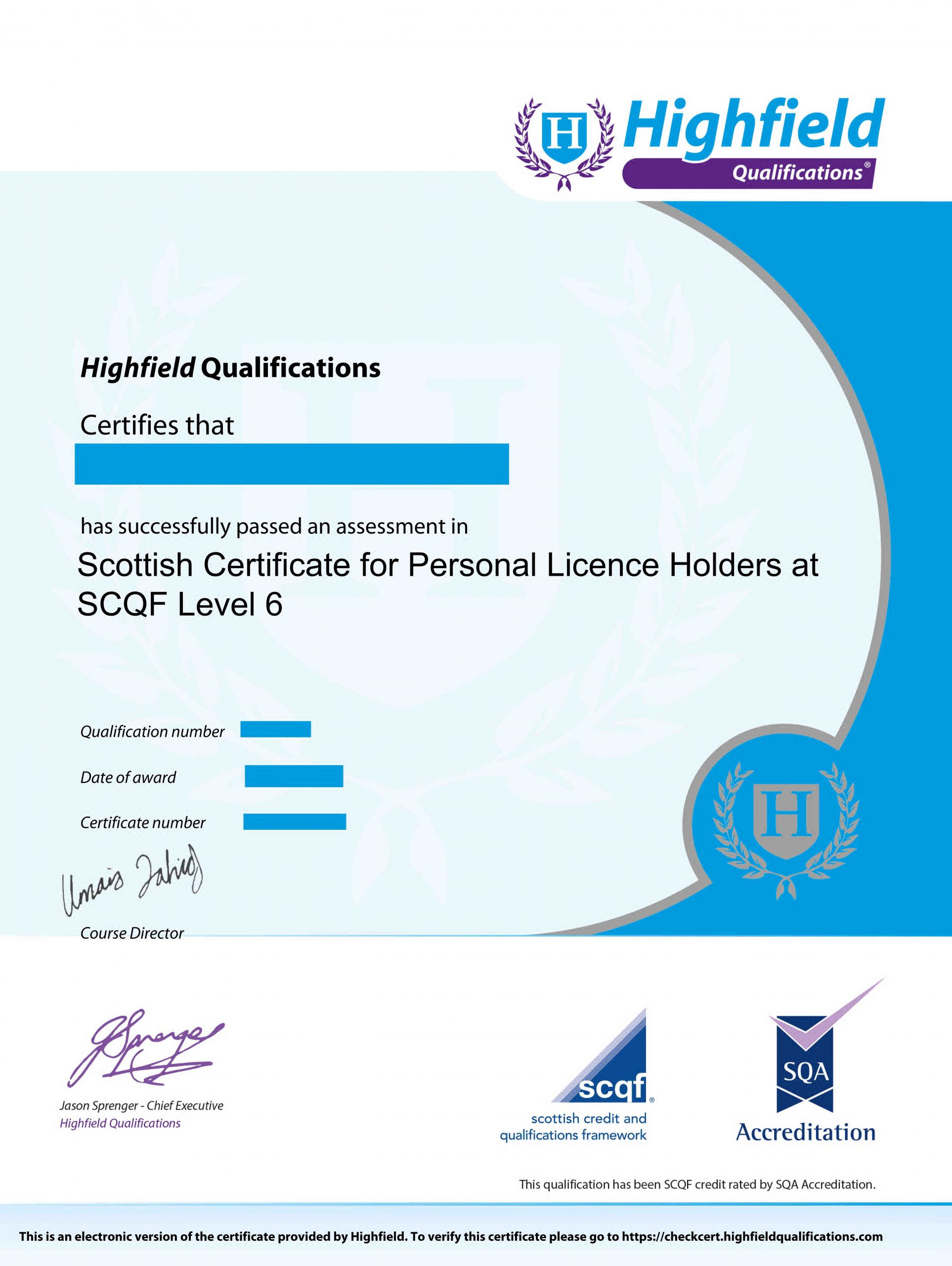 HABC Delegate Certificate